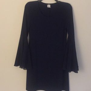 MSK Navy Dress with Tulip Sleeves - Size Small